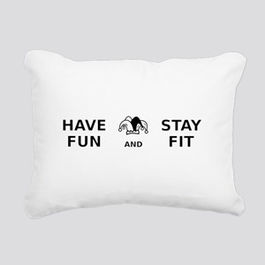 Have Fun Stay Fit Rectangular Canvas Pillow