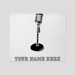 Custom Retro Microphone Throw Blanket