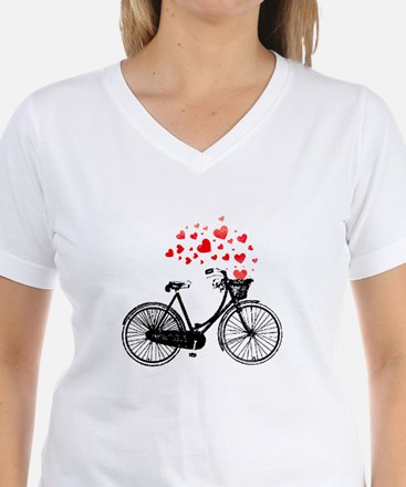 Vintage Bike with Hearts T-Shirt