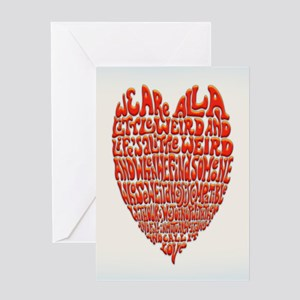 Love Is Weird Greeting Card