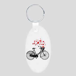 Vintage Bike With Hearts Keychains