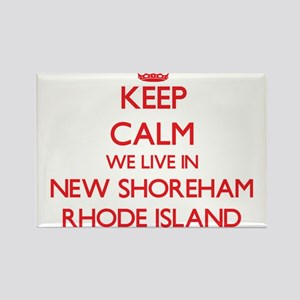 Keep calm we live in New Shoreham Rhode Is Magnets