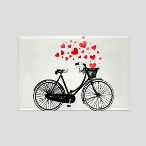 Vintage Bike with Hearts Magnets