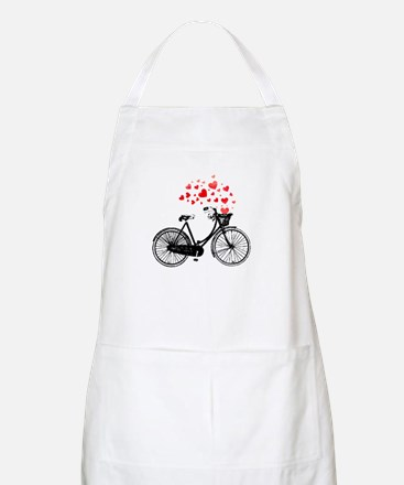 Vintage Bike with Hearts Apron