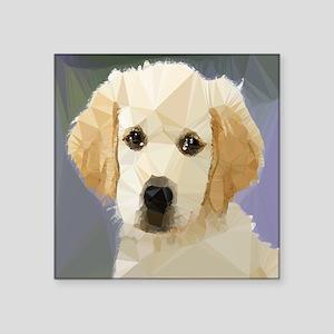 Golden Retriever Puppy Low Poly Sticker