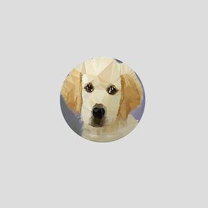 Golden Retriever Puppy Low Poly Mini Button
