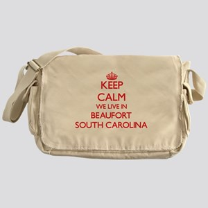 Keep calm we live in Beaufort South Messenger Bag