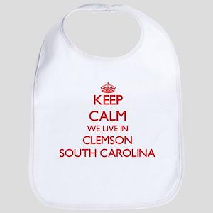 Keep calm we live in Clemson South Carolina Bib
