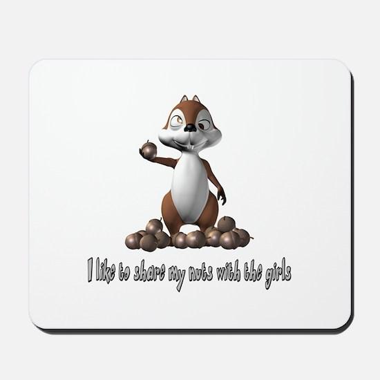 Squirrel Humor Mousepad