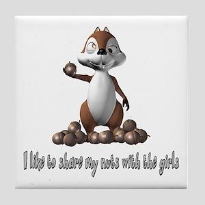 Squirrel Humor Tile Coaster