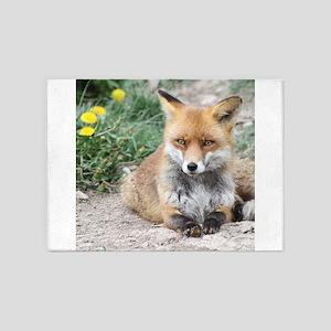 Fox002a 5'x7'Area Rug