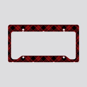 skull-plaid-red_sb License Plate Holder