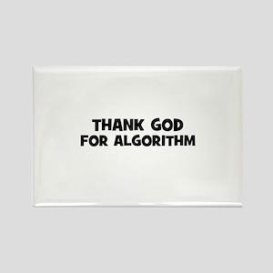 Thank God For Algorithm Rectangle Magnet