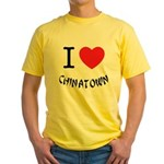 I love Chinatown Yellow T-Shirt