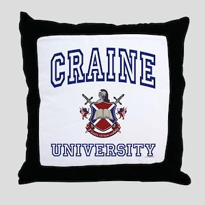CRAINE University Throw Pillow