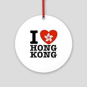 I Love Hong Kong Ornament (Round)