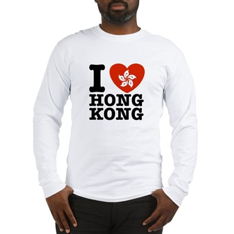 I Love Hong Kong Long Sleeve T-Shirt
