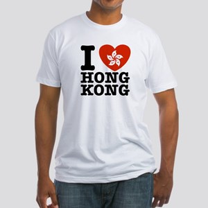I Love Hong Kong Fitted T-Shirt