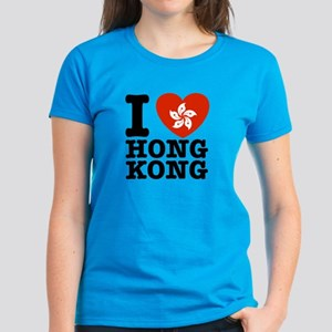 I Love Hong Kong Women's Dark T-Shirt