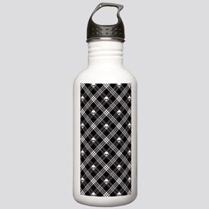 Gothic Skull Plaid Stainless Water Bottle 1.0L