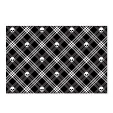 Gothic Skull Plaid Postcards (Package of 8)