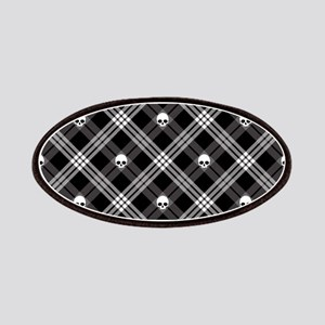Gothic Skull Plaid Patches
