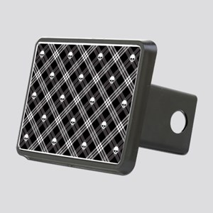 Gothic Skull Plaid Rectangular Hitch Cover