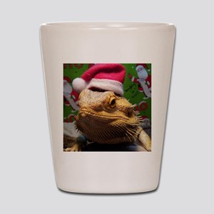 Beardie Santa Hat Shot Glass