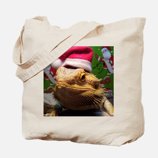 Beardie Santa Hat Tote Bag