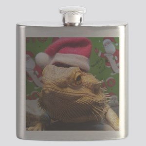 Beardie Santa Hat Flask