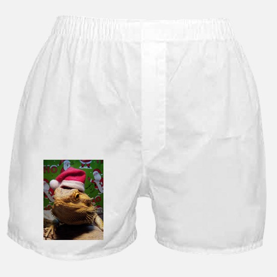 Beardie Santa Hat Boxer Shorts