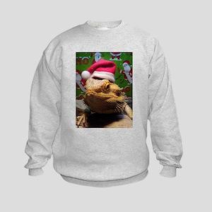 Beardie Santa Hat Kids Sweatshirt