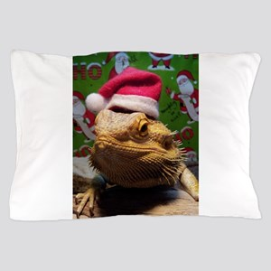 Beardie Santa Hat Pillow Case