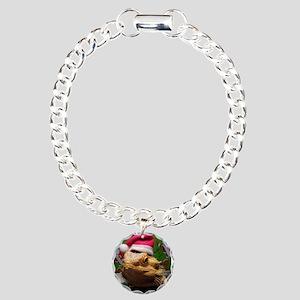Beardie Santa Hat Charm Bracelet, One Charm