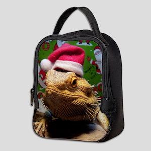 Beardie Santa Hat Neoprene Lunch Bag