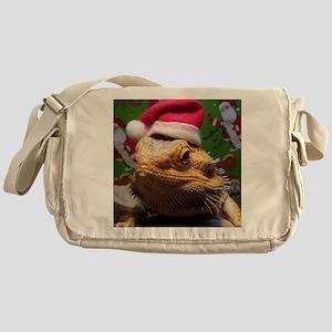 Beardie Santa Hat Messenger Bag