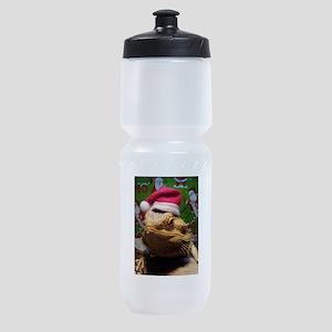 Beardie Santa Hat Sports Bottle