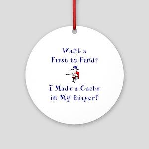 FTF Diaper Cache Ornament (Round)
