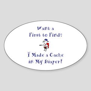 FTF Diaper Cache Oval Sticker
