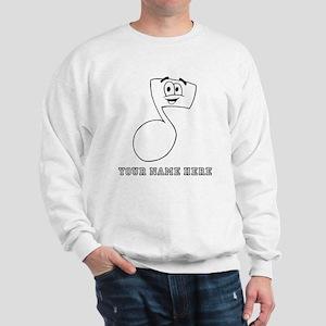 Custom Cartoon Eighth Note Sweatshirt