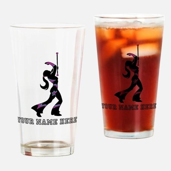 Custom Majorette Drinking Glass