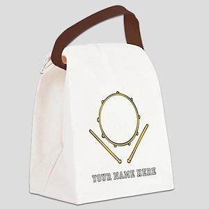 Custom Drum Canvas Lunch Bag