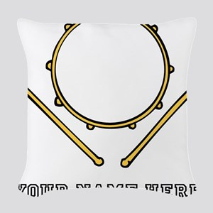 Custom Drum Woven Throw Pillow