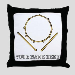 Custom Drum Throw Pillow