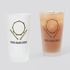 Custom Drum Drinking Glass