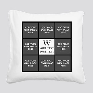 Custom Photo Collage Square Canvas Pillow