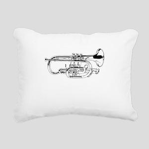 Baritone Horn Rectangular Canvas Pillow