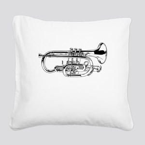 Baritone Horn Square Canvas Pillow