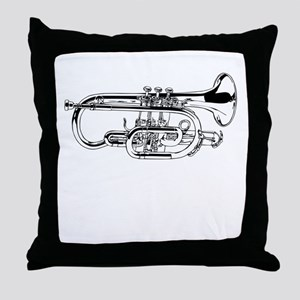 Baritone Horn Throw Pillow