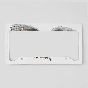 White Hulotte License Plate Holder